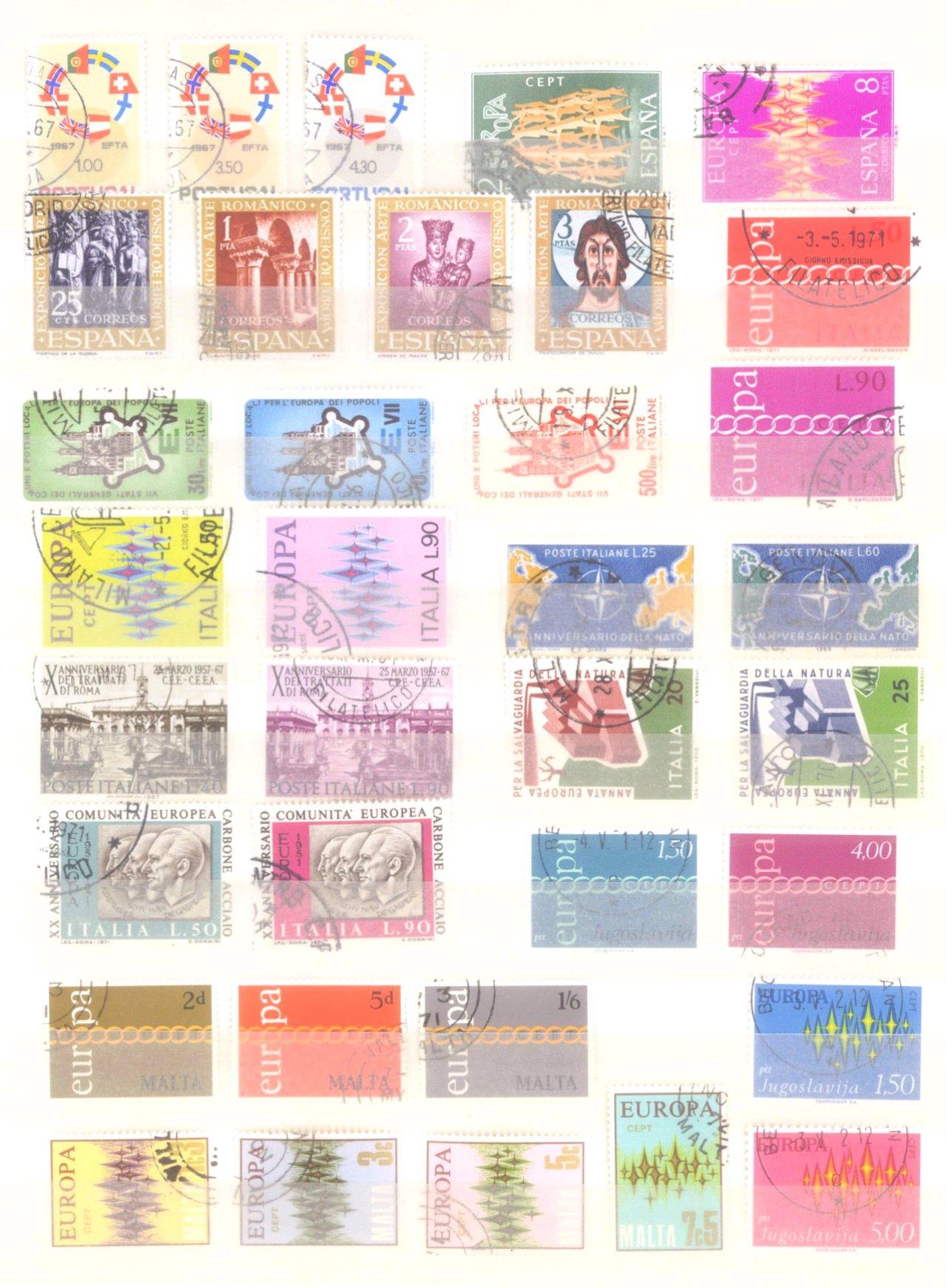 Europa CEPT mit SPANISCH – ANDORRA 1972-7