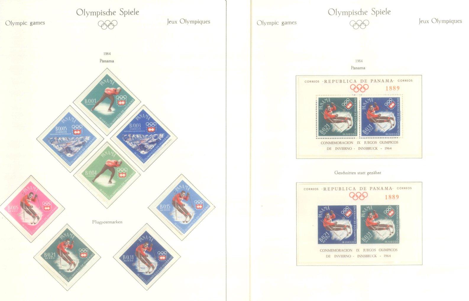 OLYMPISCHE SPIELE 1964 TOKIO, postfrische Sammlung Teil 2