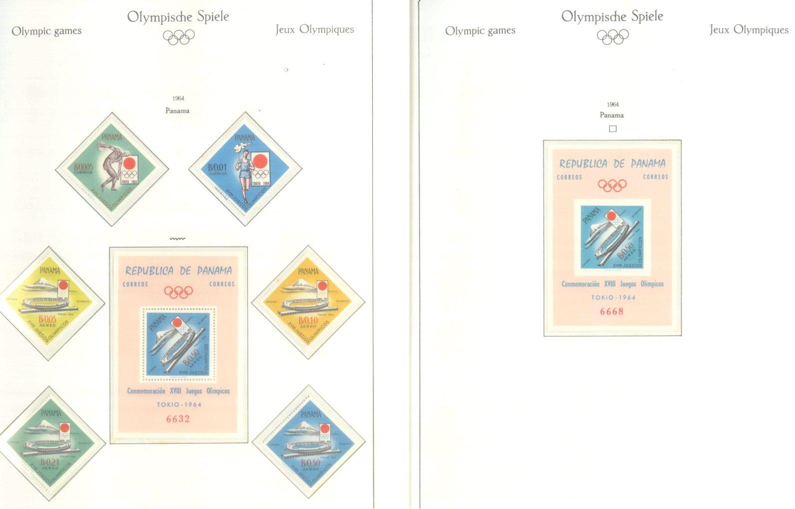 OLYMPISCHE SPIELE 1964 TOKIO, postfrische Sammlung Teil 2-2