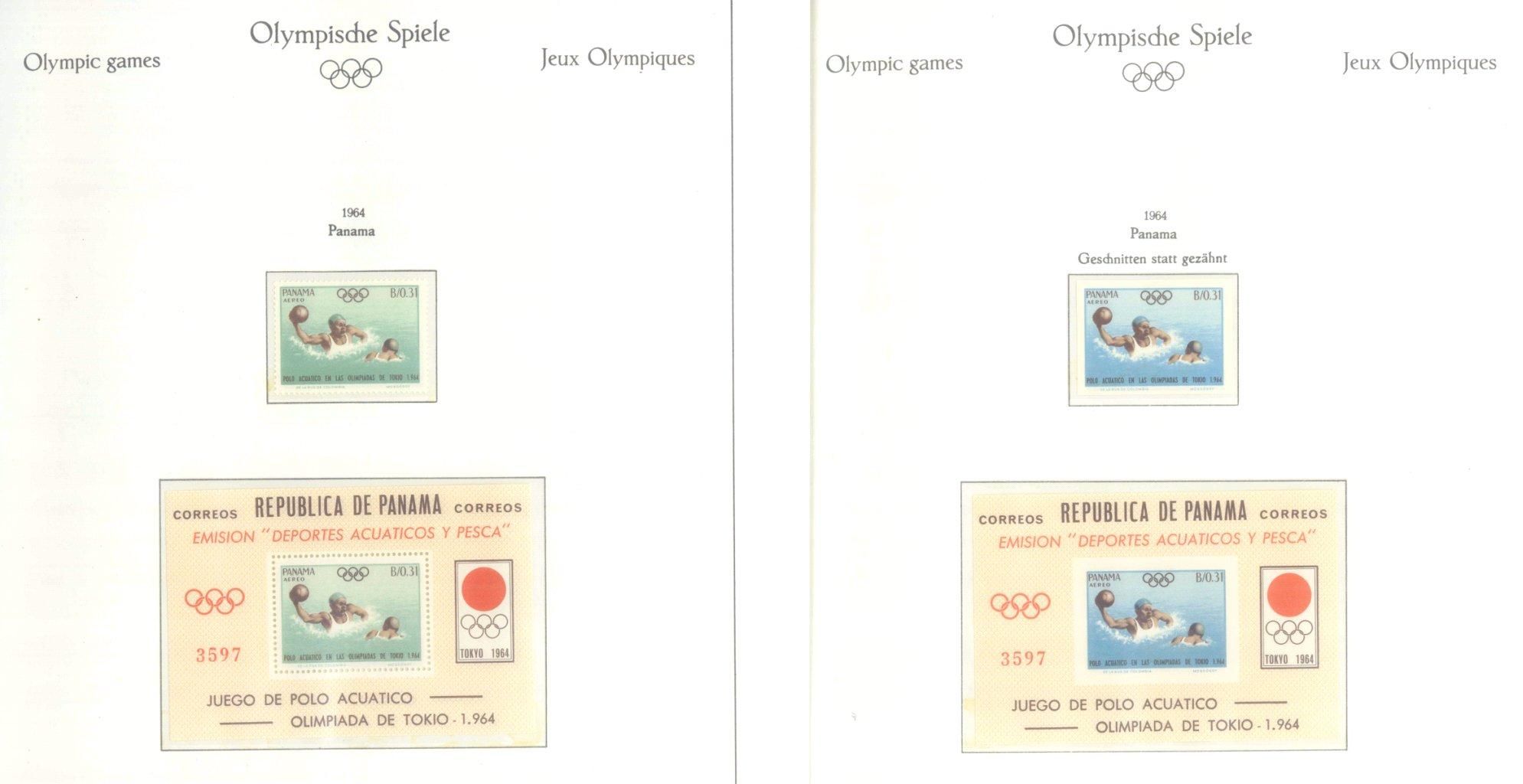 OLYMPISCHE SPIELE 1964 TOKIO, postfrische Sammlung Teil 2-3