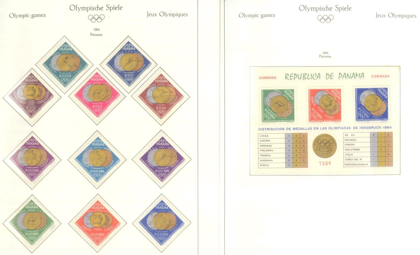 OLYMPISCHE SPIELE 1964 TOKIO, postfrische Sammlung Teil 2-4
