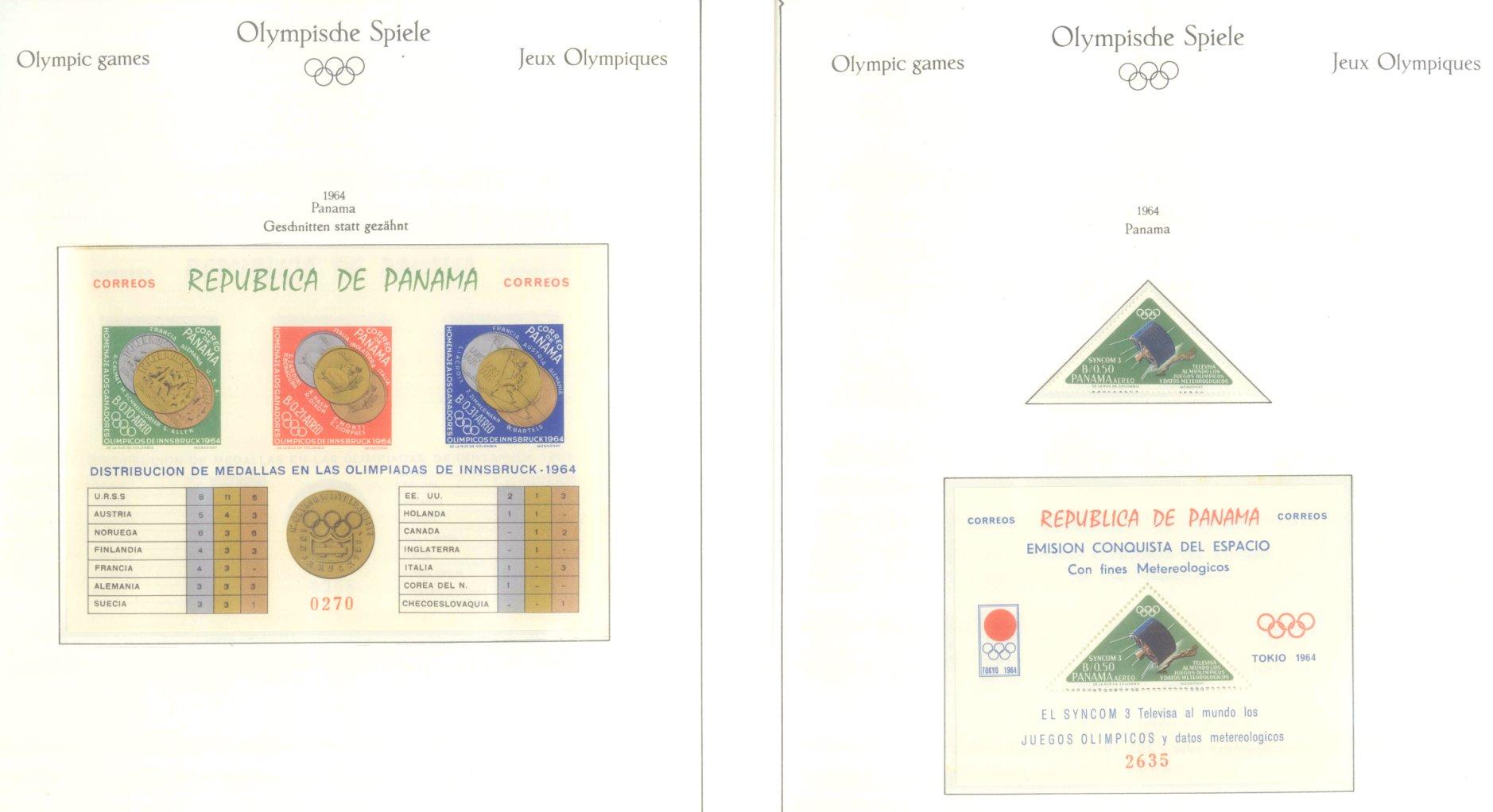 OLYMPISCHE SPIELE 1964 TOKIO, postfrische Sammlung Teil 2-6