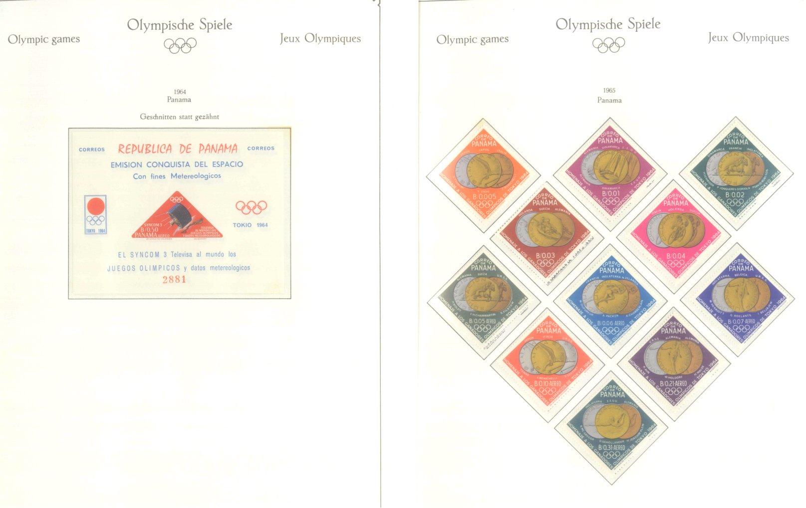 OLYMPISCHE SPIELE 1964 TOKIO, postfrische Sammlung Teil 2-7