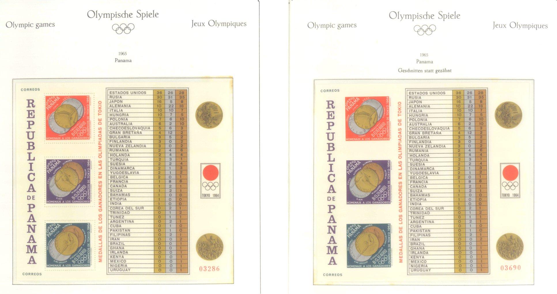 OLYMPISCHE SPIELE 1964 TOKIO, postfrische Sammlung Teil 2-8