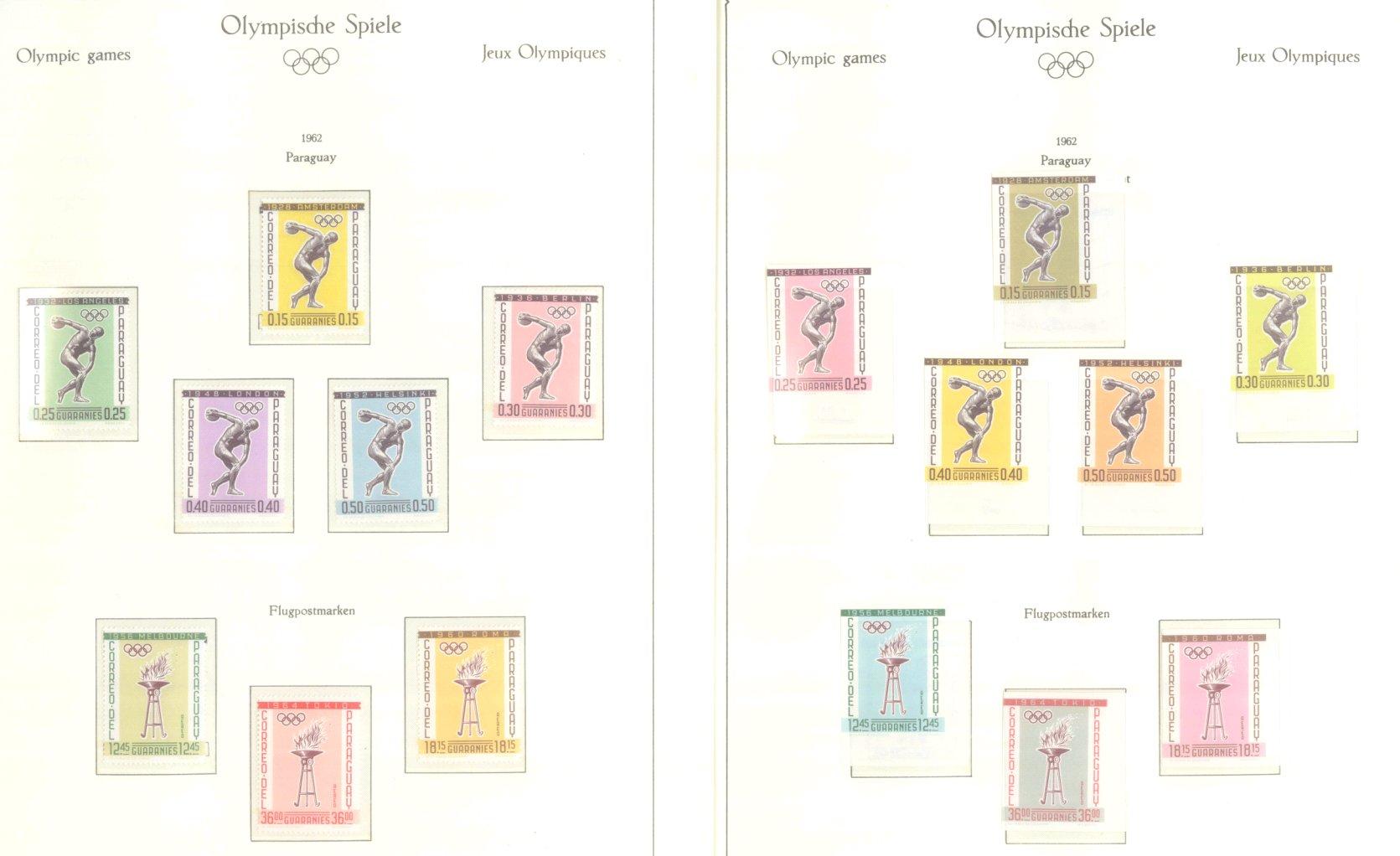 OLYMPISCHE SPIELE 1964 TOKIO, postfrische Sammlung Teil 2-9