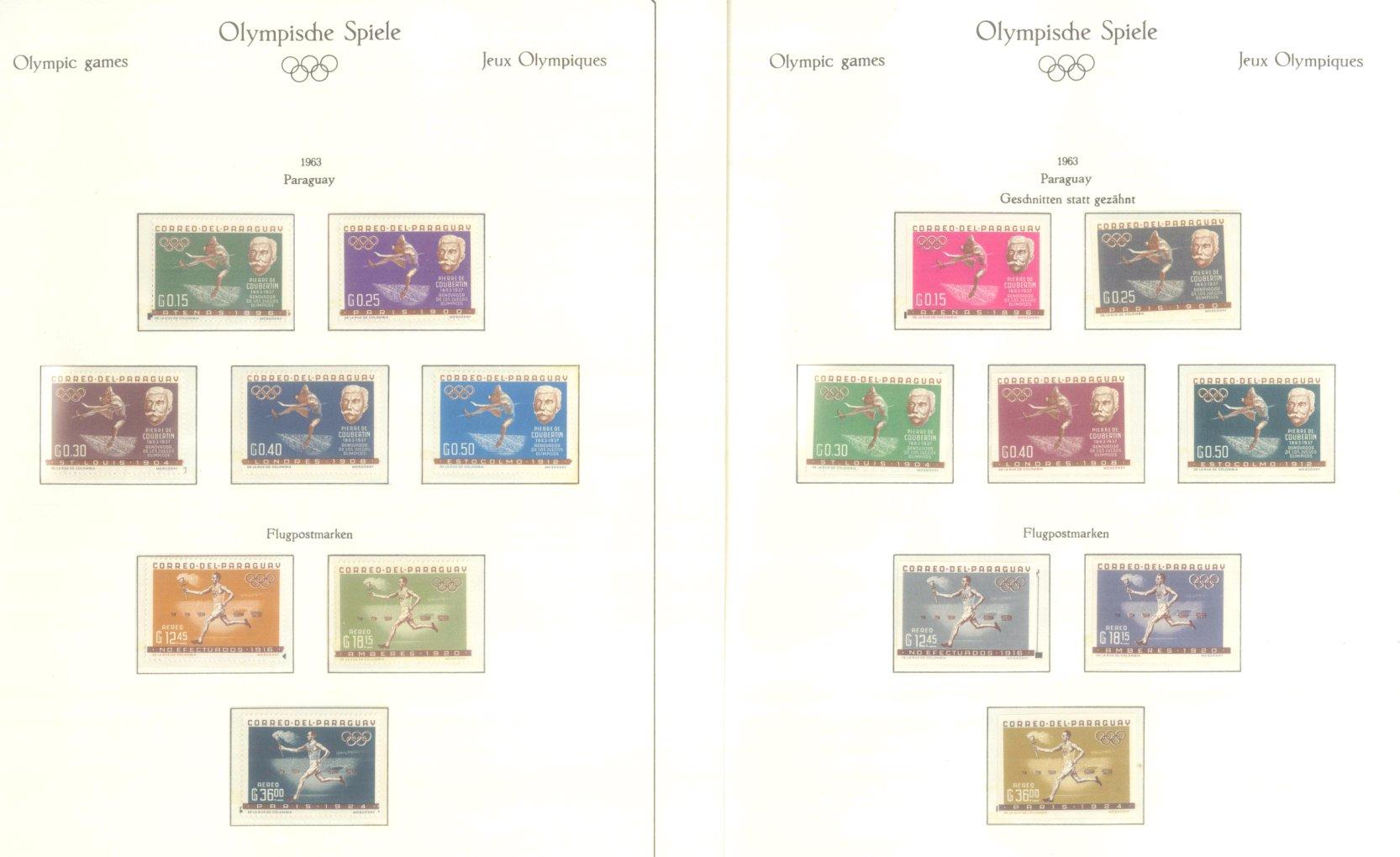 OLYMPISCHE SPIELE 1964 TOKIO, postfrische Sammlung Teil 2-10