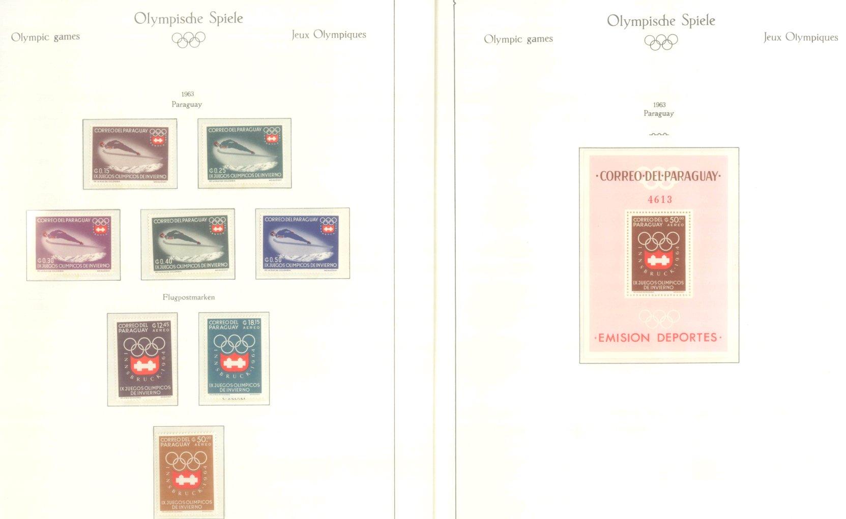 OLYMPISCHE SPIELE 1964 TOKIO, postfrische Sammlung Teil 2-14