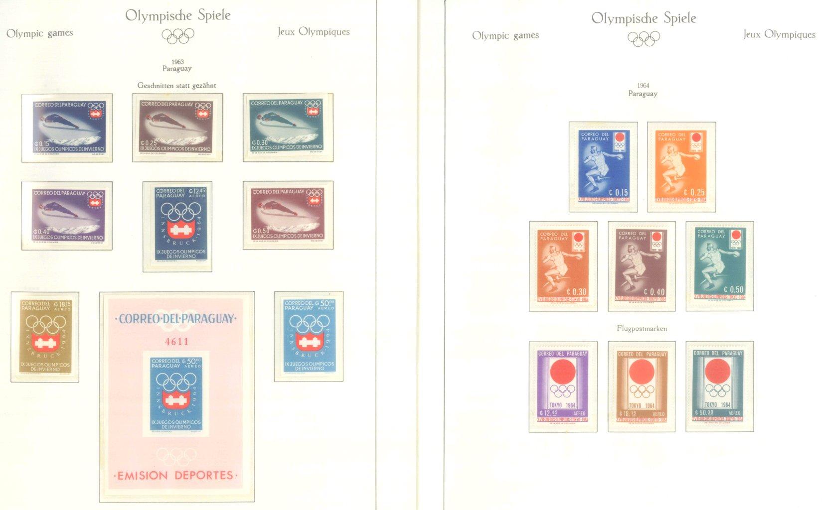 OLYMPISCHE SPIELE 1964 TOKIO, postfrische Sammlung Teil 2-15