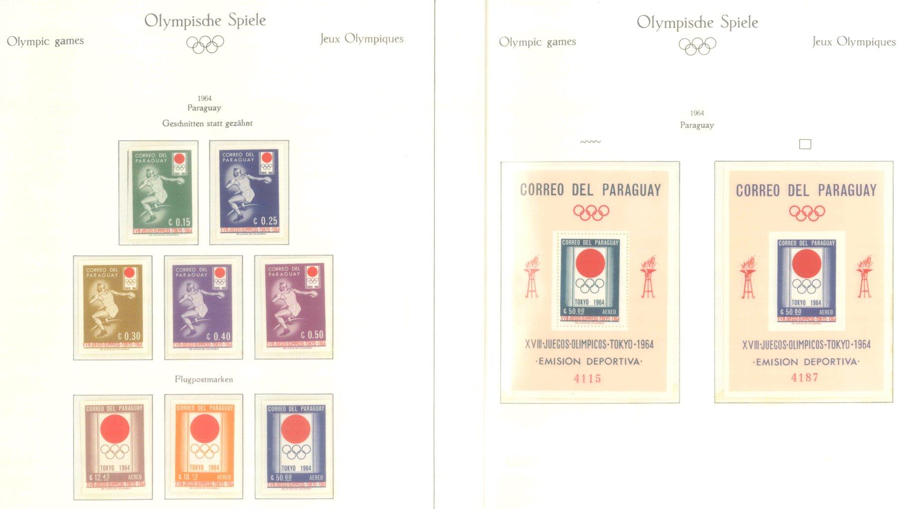 OLYMPISCHE SPIELE 1964 TOKIO, postfrische Sammlung Teil 2-16