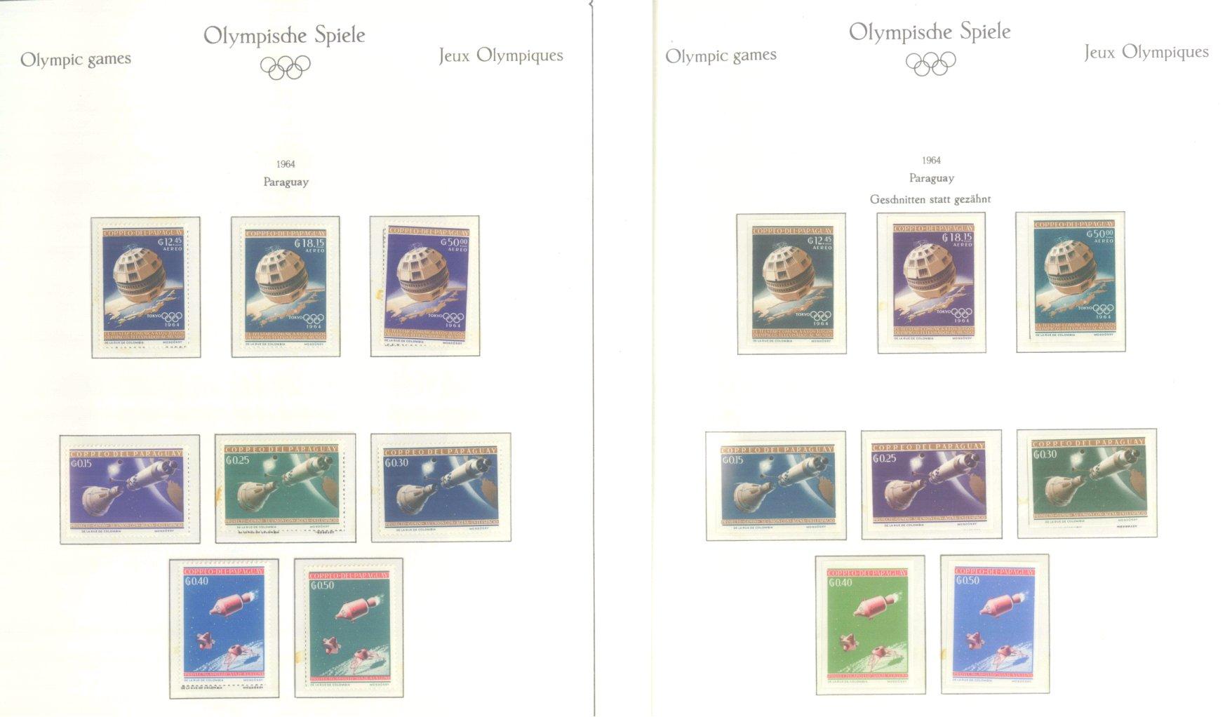 OLYMPISCHE SPIELE 1964 TOKIO, postfrische Sammlung Teil 2-17