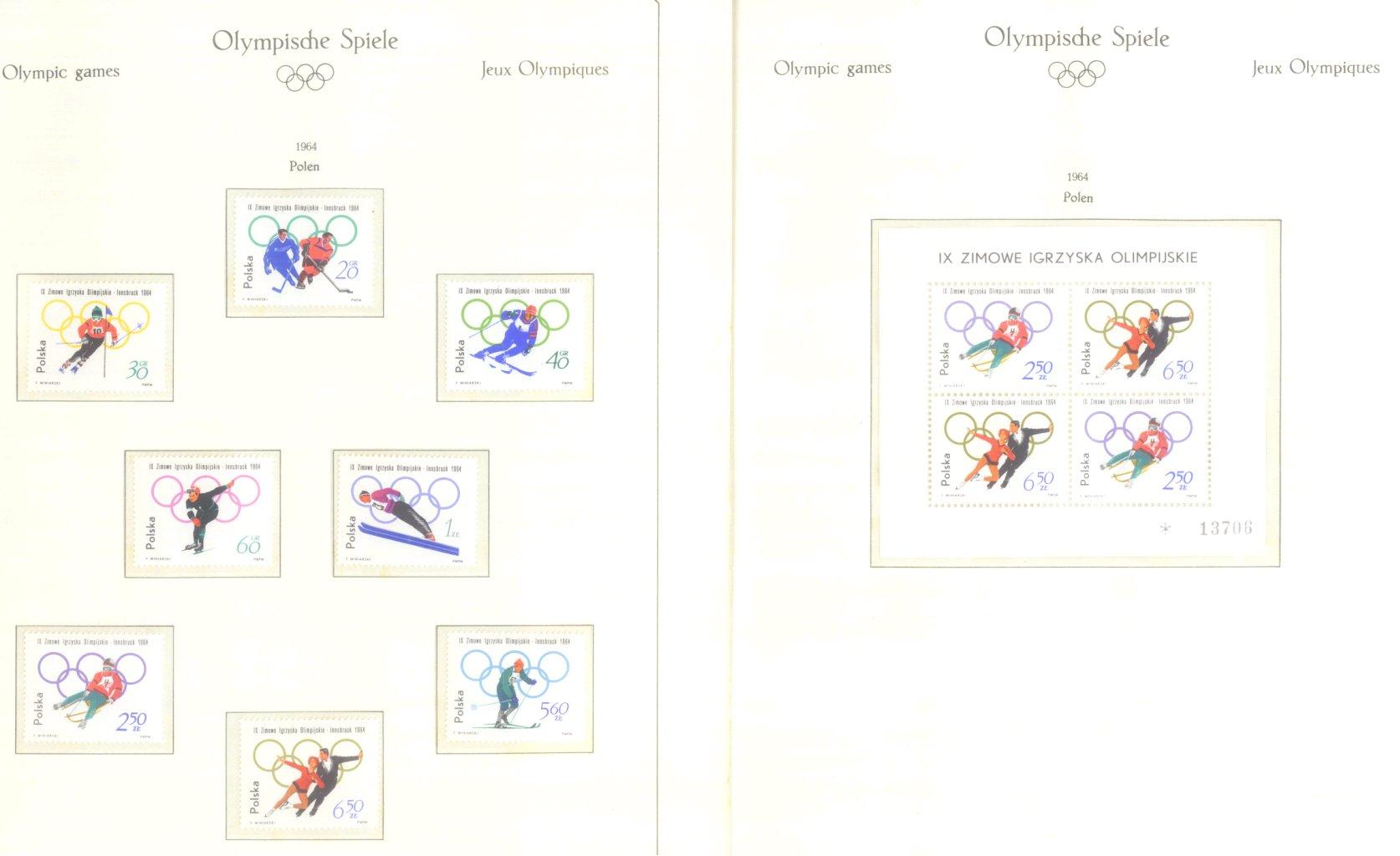 OLYMPISCHE SPIELE 1964 TOKIO, postfrische Sammlung Teil 2-20