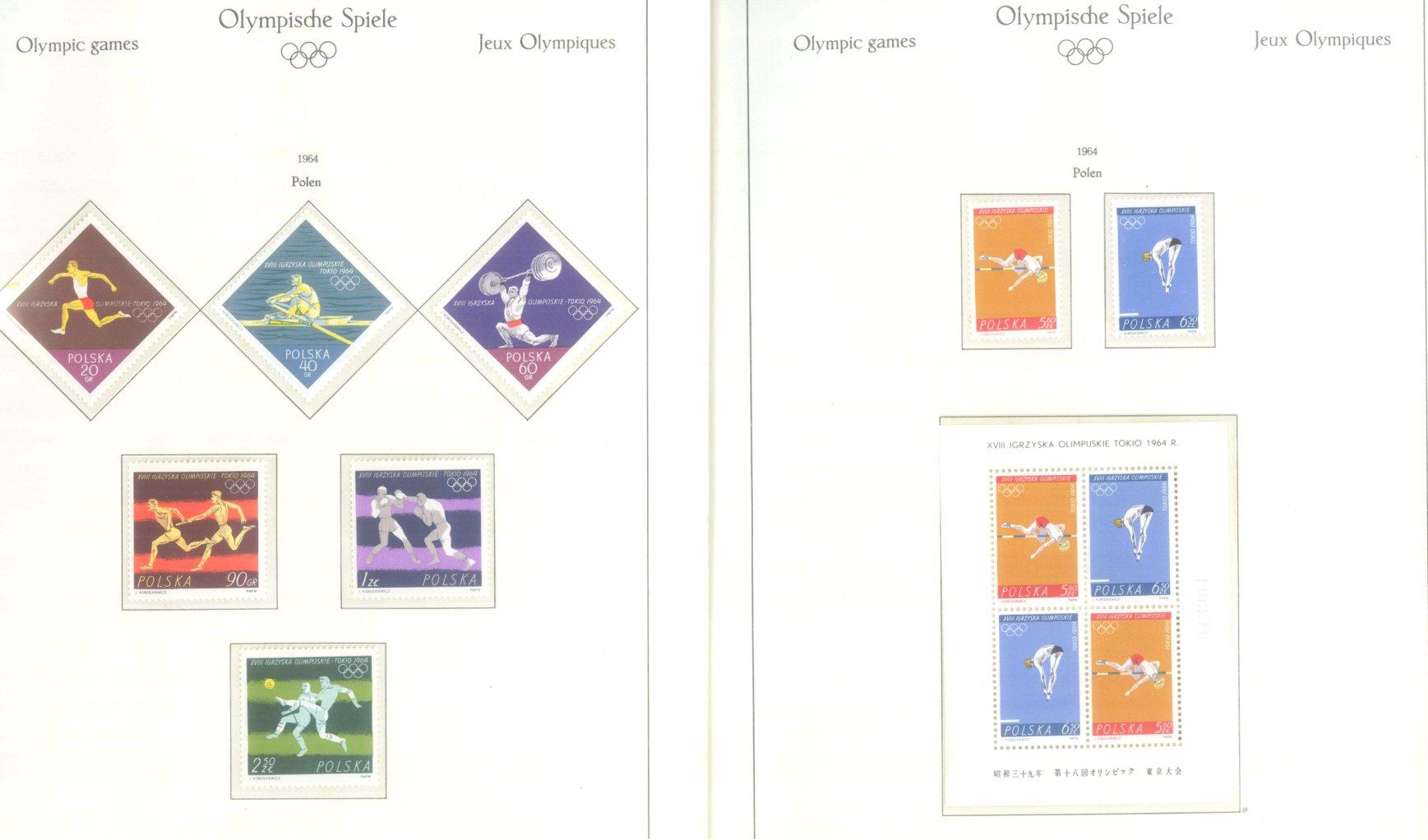 OLYMPISCHE SPIELE 1964 TOKIO, postfrische Sammlung Teil 2-21