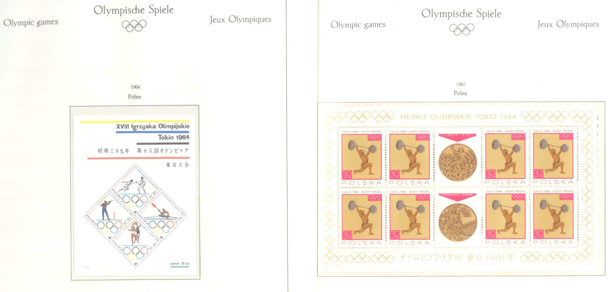 OLYMPISCHE SPIELE 1964 TOKIO, postfrische Sammlung Teil 2-22