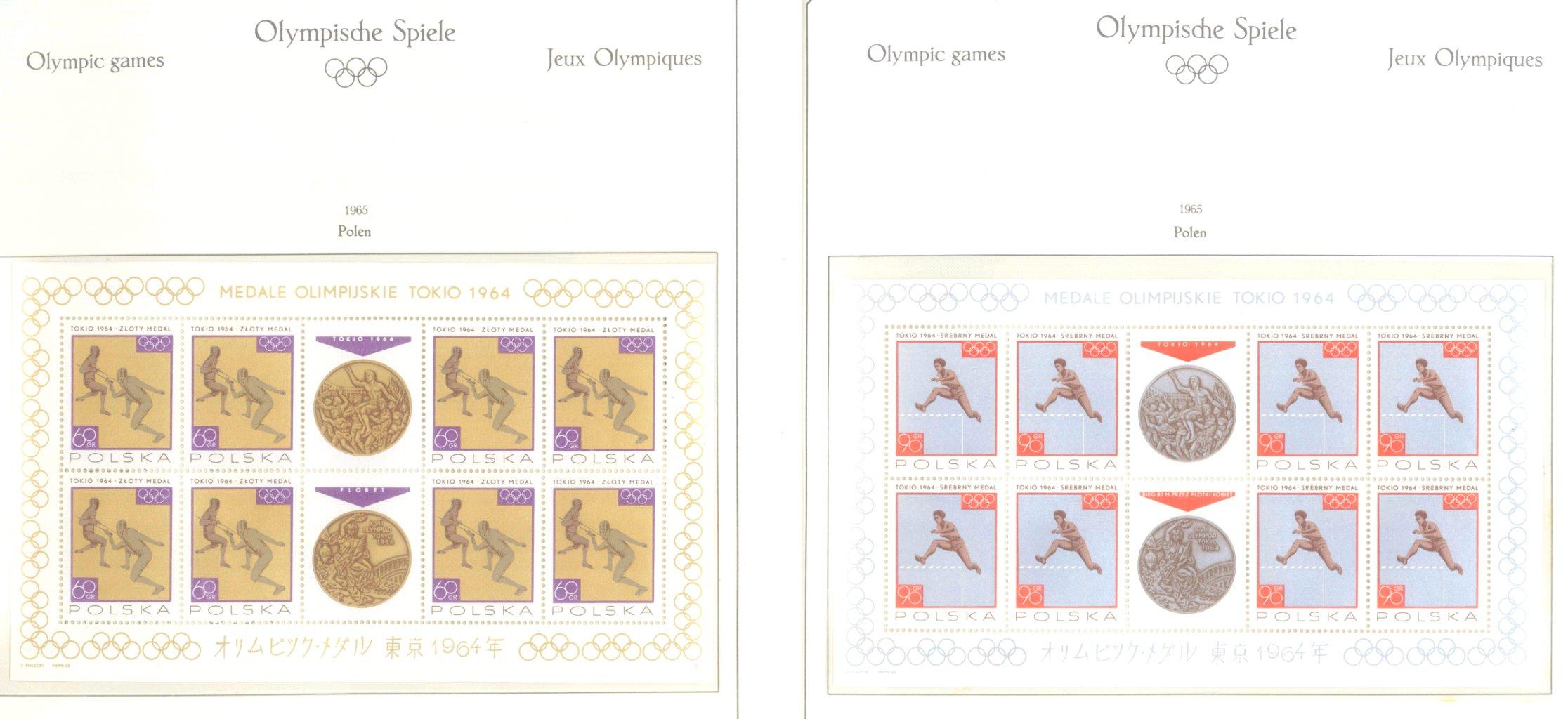 OLYMPISCHE SPIELE 1964 TOKIO, postfrische Sammlung Teil 2-24