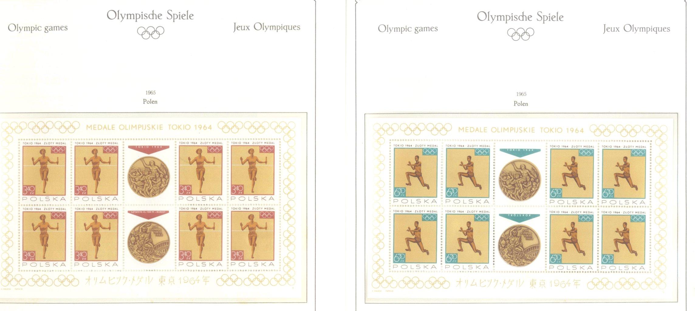 OLYMPISCHE SPIELE 1964 TOKIO, postfrische Sammlung Teil 2-25
