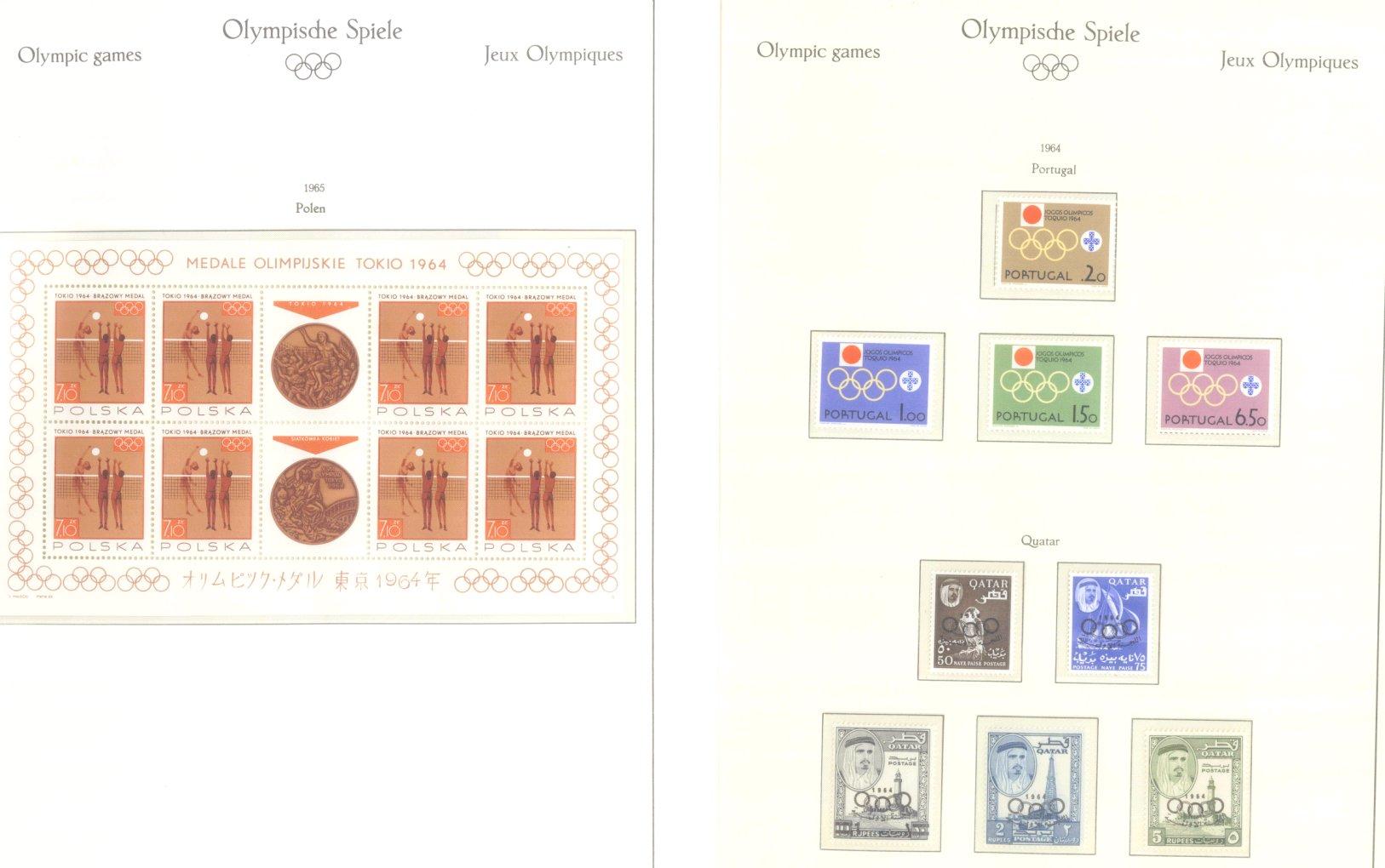 OLYMPISCHE SPIELE 1964 TOKIO, postfrische Sammlung Teil 2-26