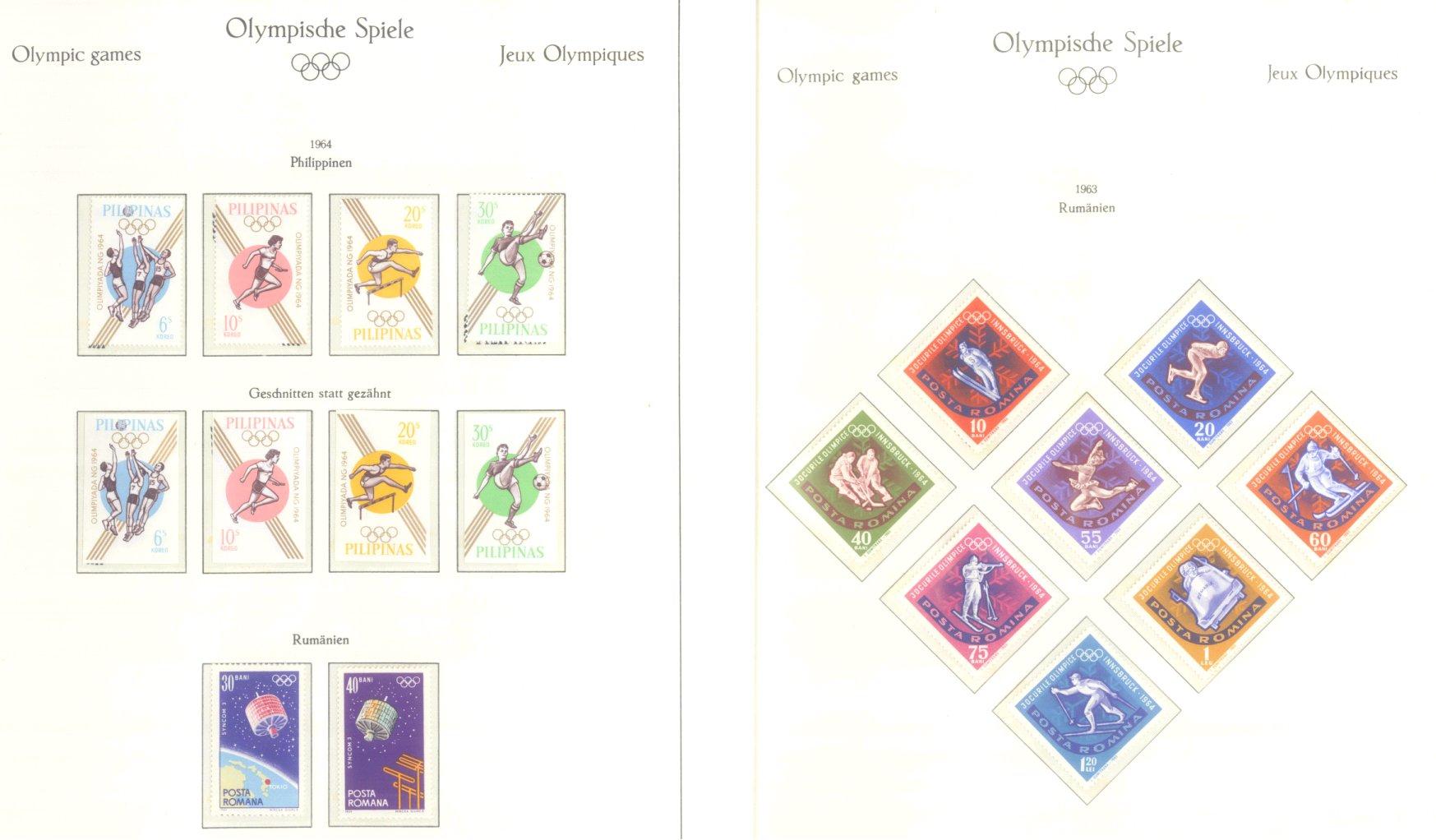 OLYMPISCHE SPIELE 1964 TOKIO, postfrische Sammlung Teil 2-28
