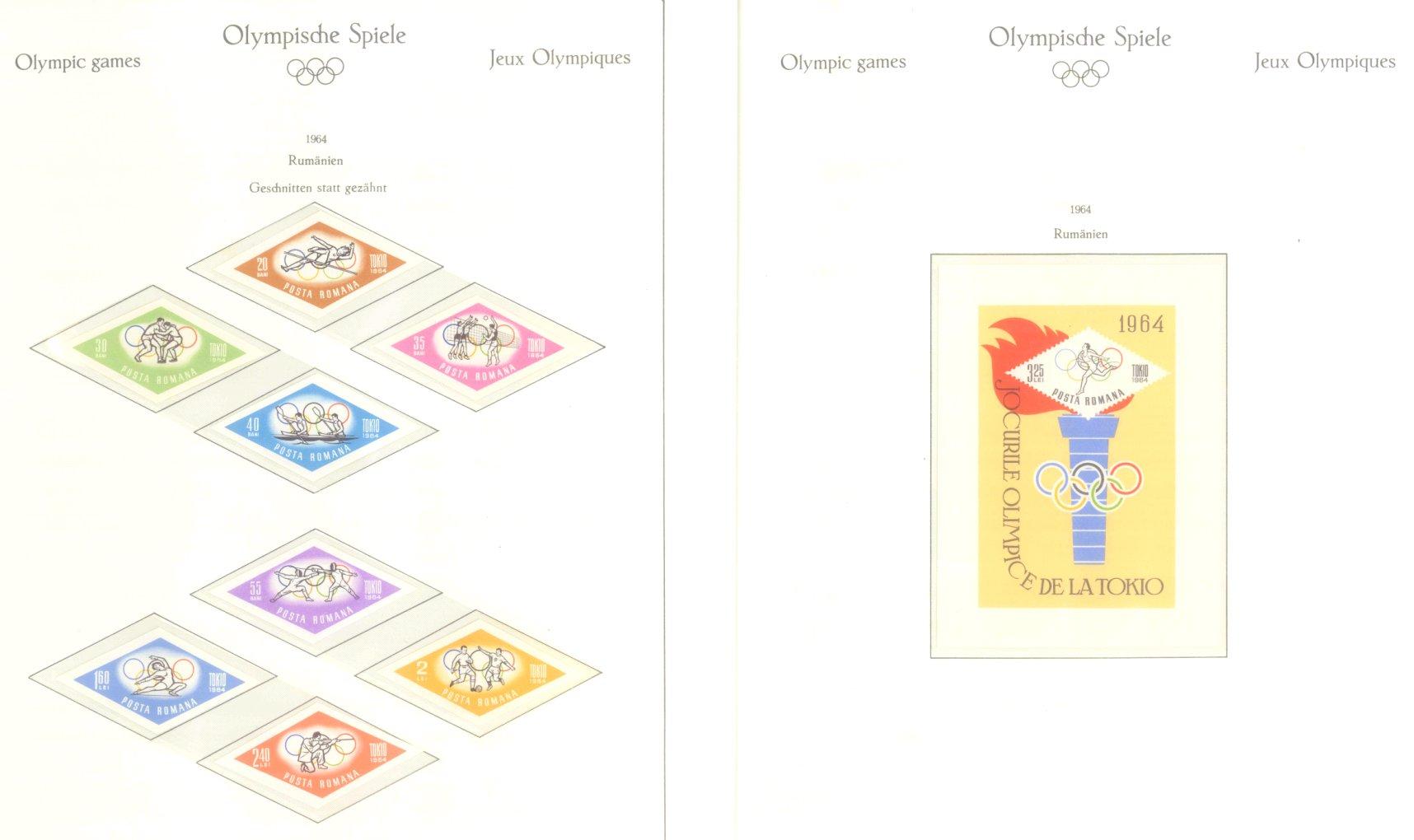 OLYMPISCHE SPIELE 1964 TOKIO, postfrische Sammlung Teil 2-30