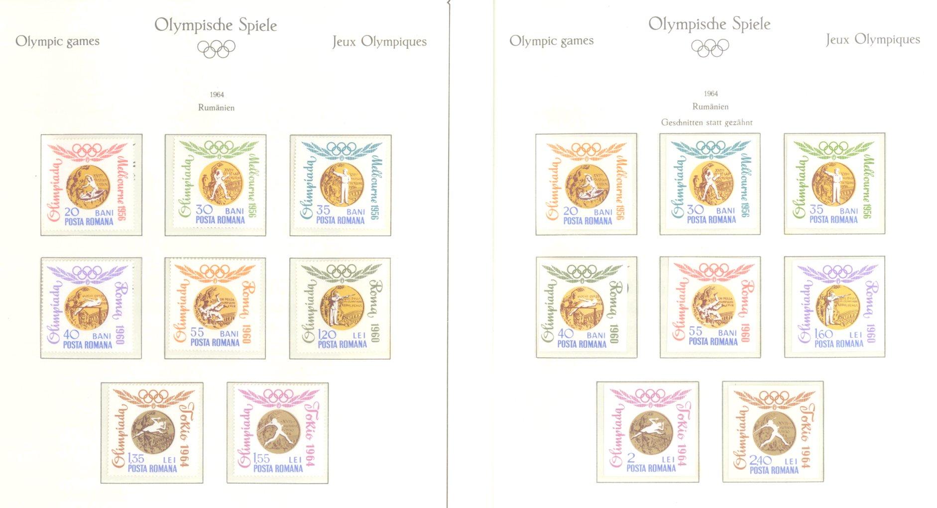 OLYMPISCHE SPIELE 1964 TOKIO, postfrische Sammlung Teil 2-31