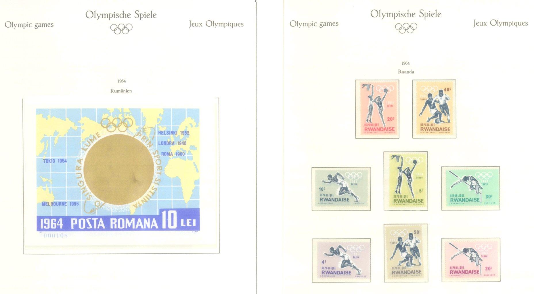 OLYMPISCHE SPIELE 1964 TOKIO, postfrische Sammlung Teil 2-32