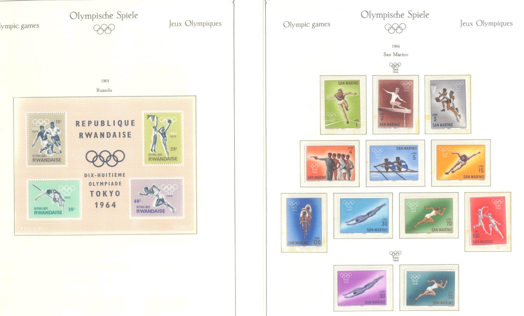 OLYMPISCHE SPIELE 1964 TOKIO, postfrische Sammlung Teil 2-33