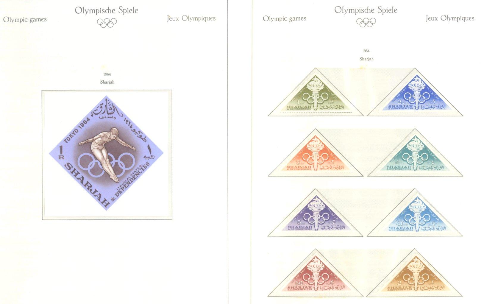 OLYMPISCHE SPIELE 1964 TOKIO, postfrische Sammlung Teil 2-35