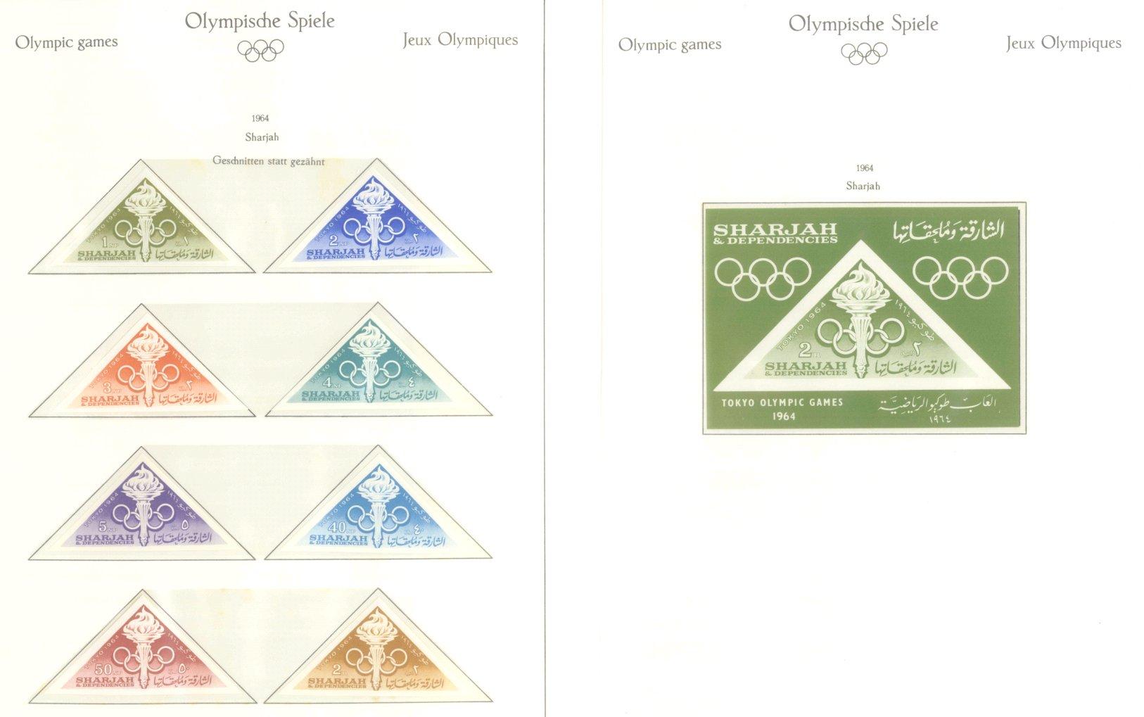 OLYMPISCHE SPIELE 1964 TOKIO, postfrische Sammlung Teil 2-36