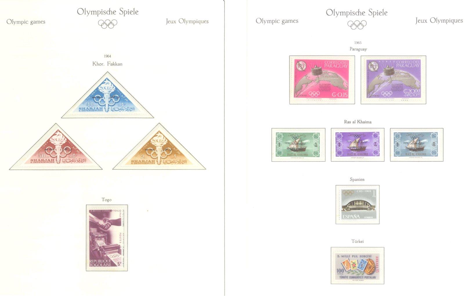 OLYMPISCHE SPIELE 1964 TOKIO, postfrische Sammlung Teil 2-37