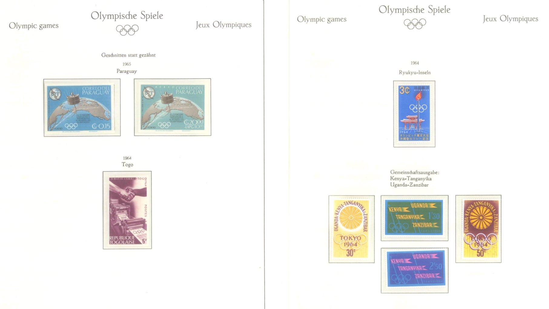 OLYMPISCHE SPIELE 1964 TOKIO, postfrische Sammlung Teil 2-38