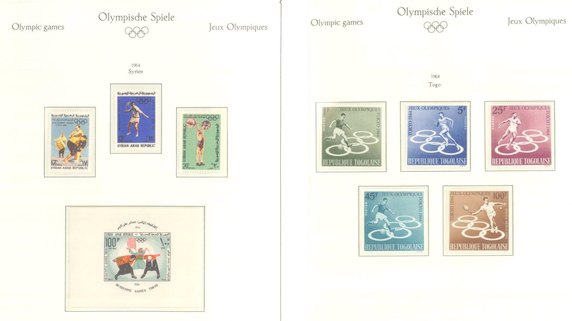 OLYMPISCHE SPIELE 1964 TOKIO, postfrische Sammlung Teil 2-40
