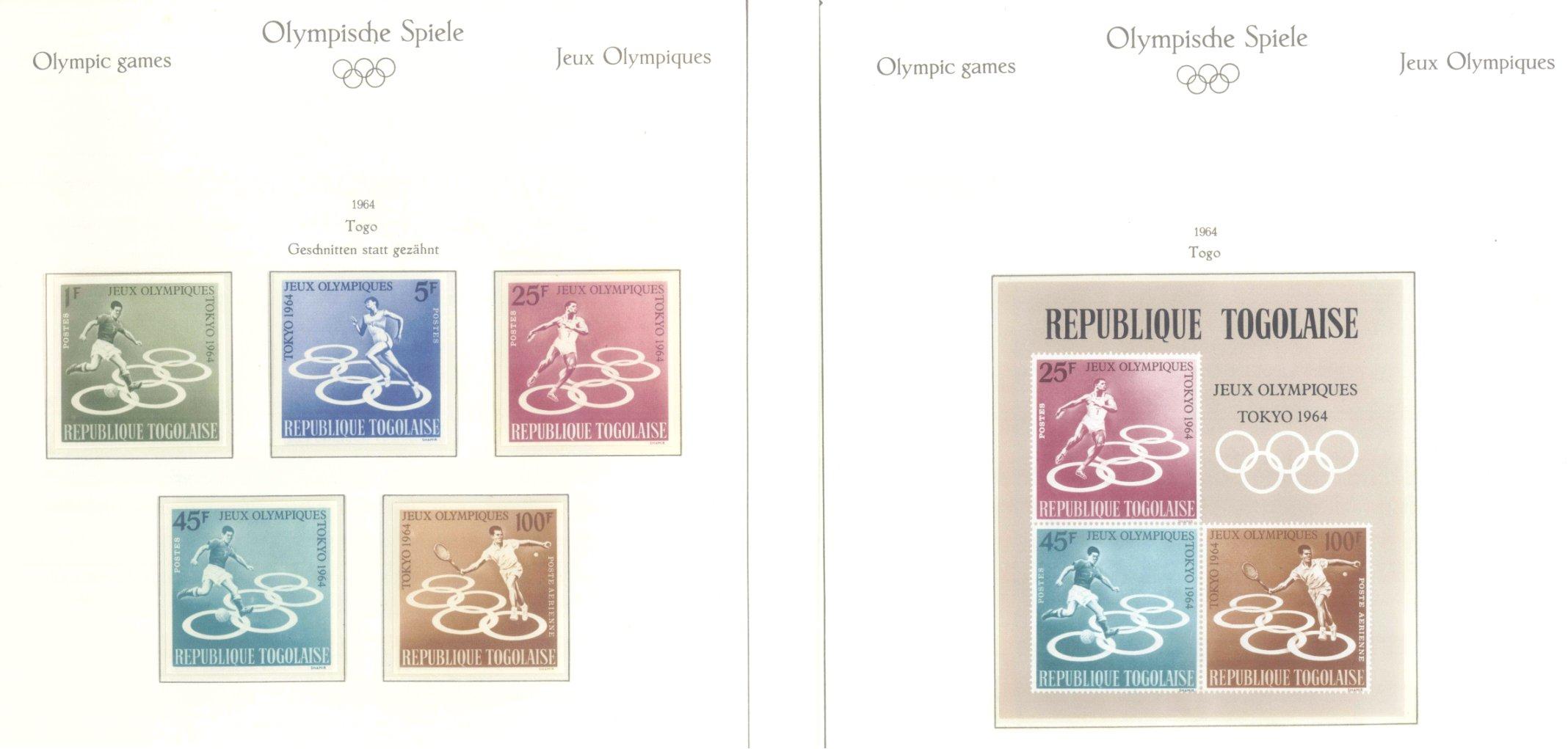 OLYMPISCHE SPIELE 1964 TOKIO, postfrische Sammlung Teil 2-41