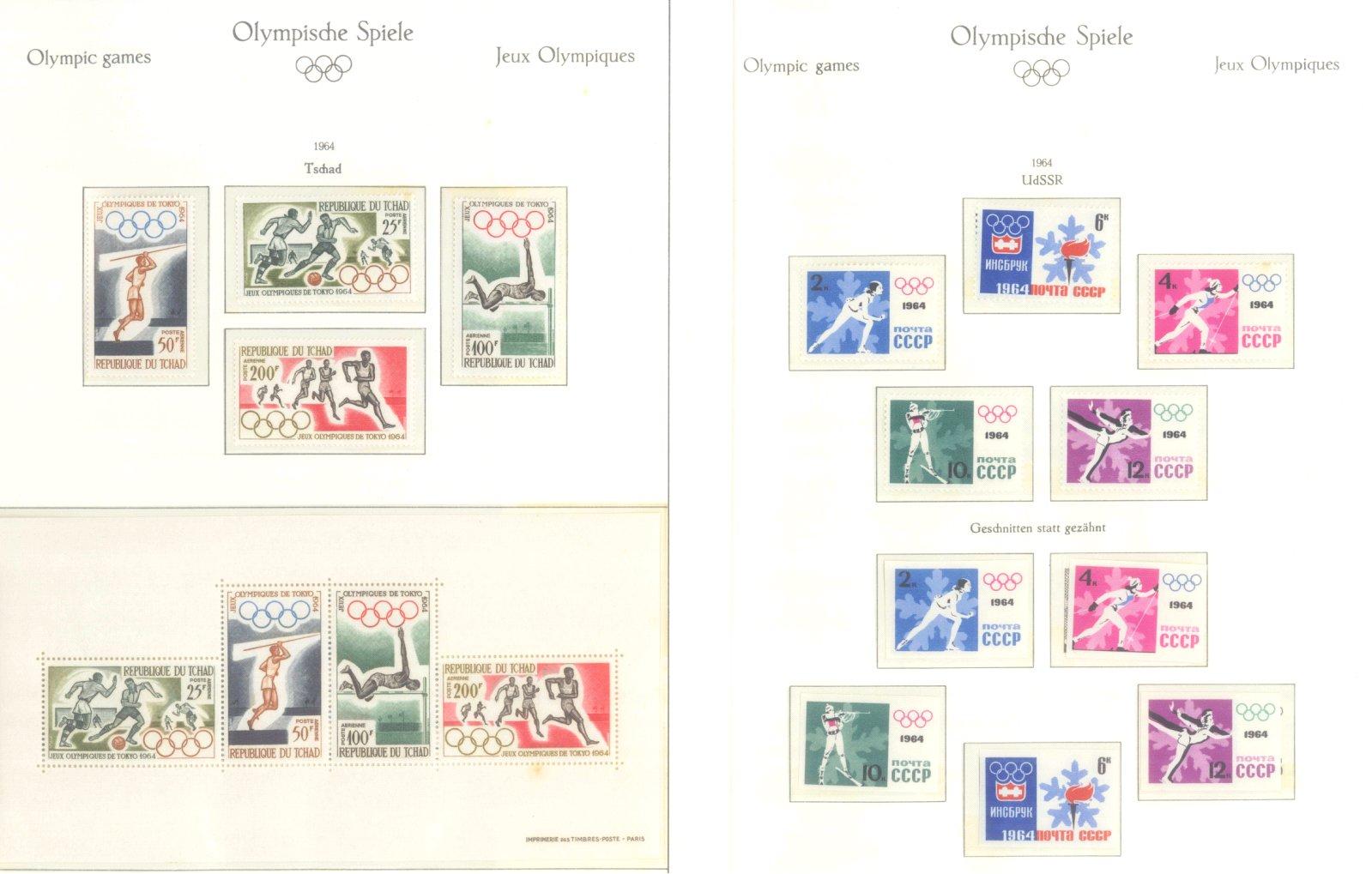 OLYMPISCHE SPIELE 1964 TOKIO, postfrische Sammlung Teil 2-42