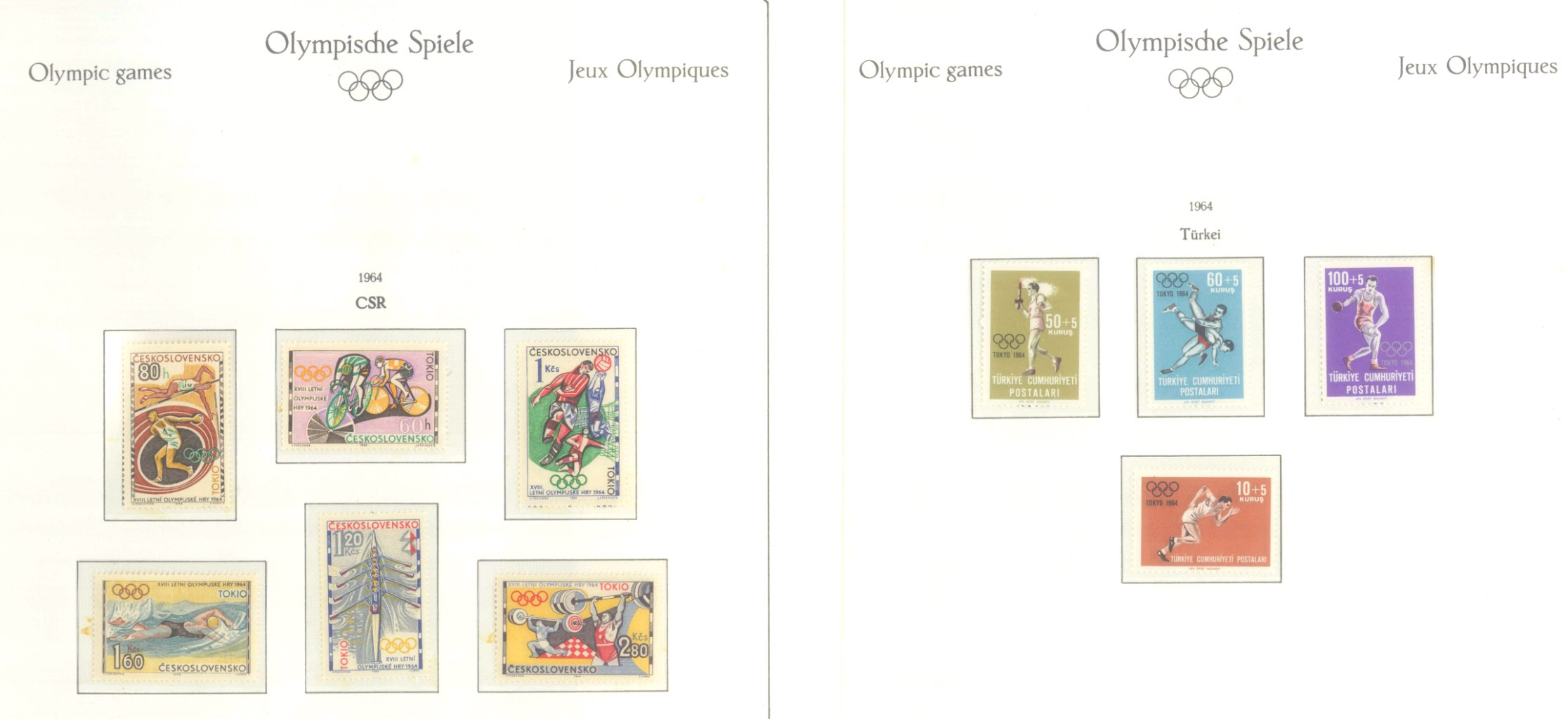 OLYMPISCHE SPIELE 1964 TOKIO, postfrische Sammlung Teil 2-43