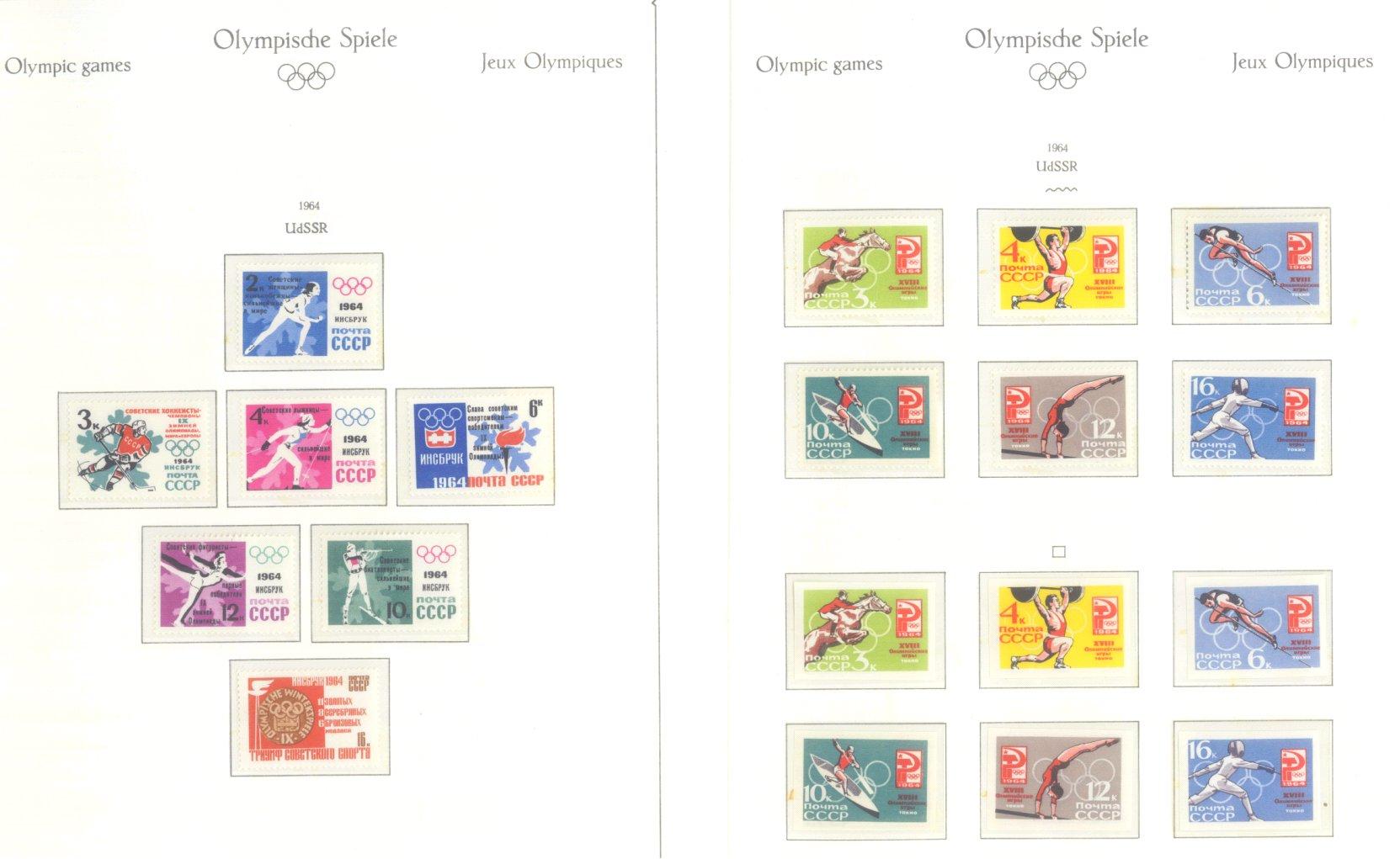 OLYMPISCHE SPIELE 1964 TOKIO, postfrische Sammlung Teil 2-44