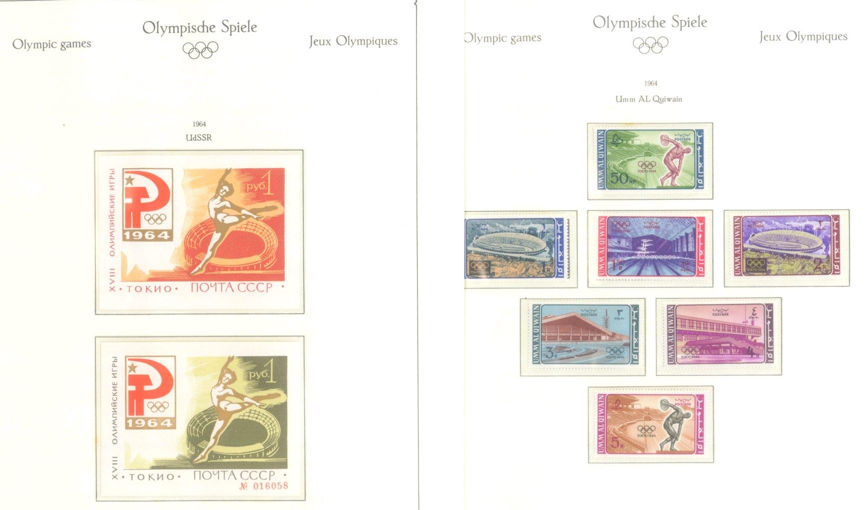 OLYMPISCHE SPIELE 1964 TOKIO, postfrische Sammlung Teil 2-45