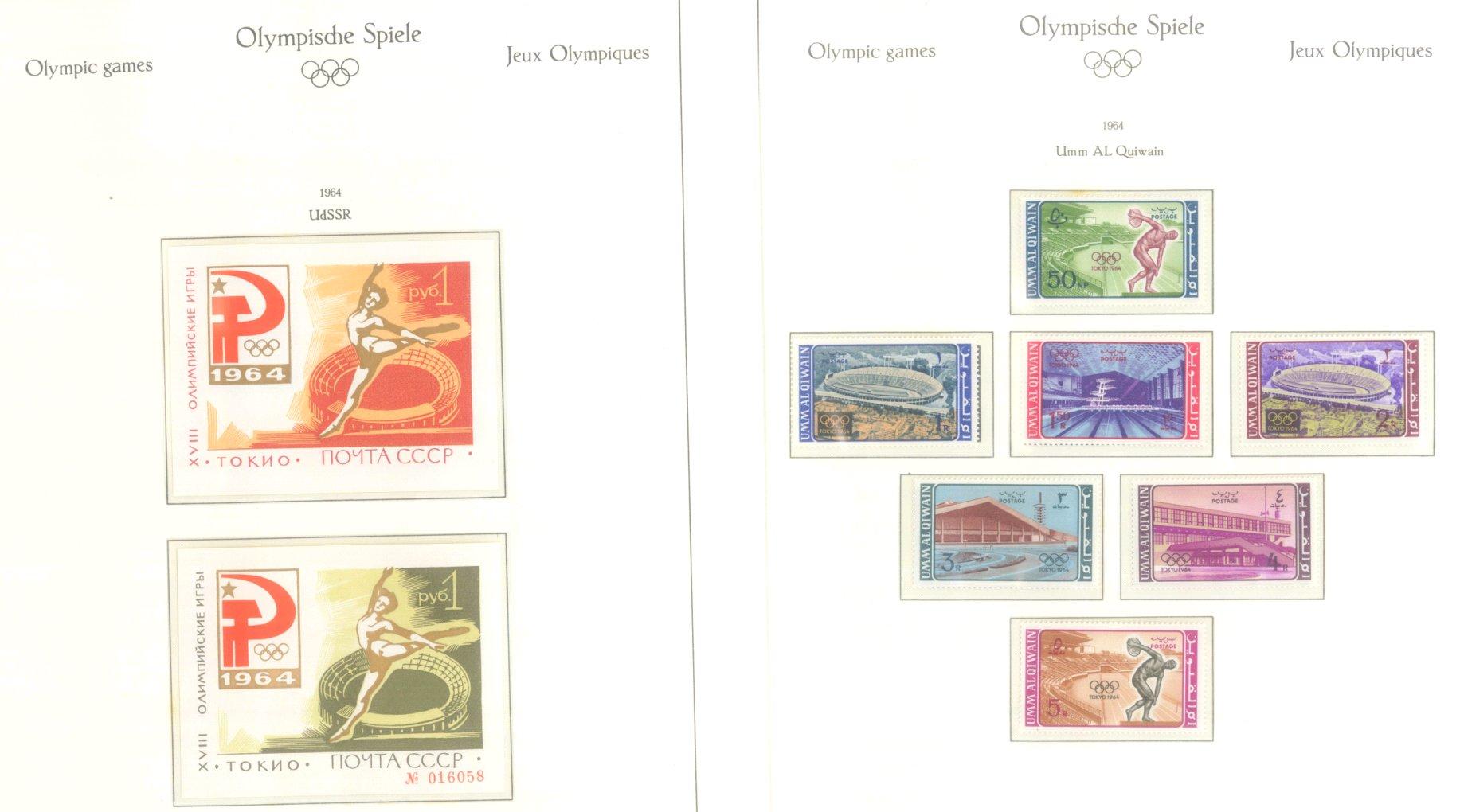 OLYMPISCHE SPIELE 1964 TOKIO, postfrische Sammlung Teil 2-46
