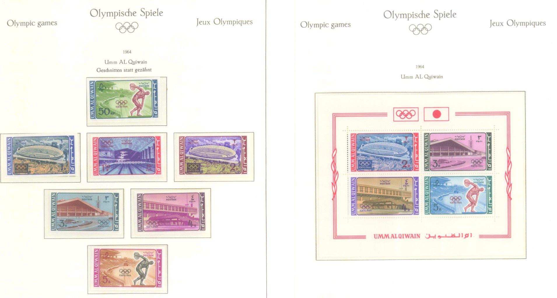 OLYMPISCHE SPIELE 1964 TOKIO, postfrische Sammlung Teil 2-47