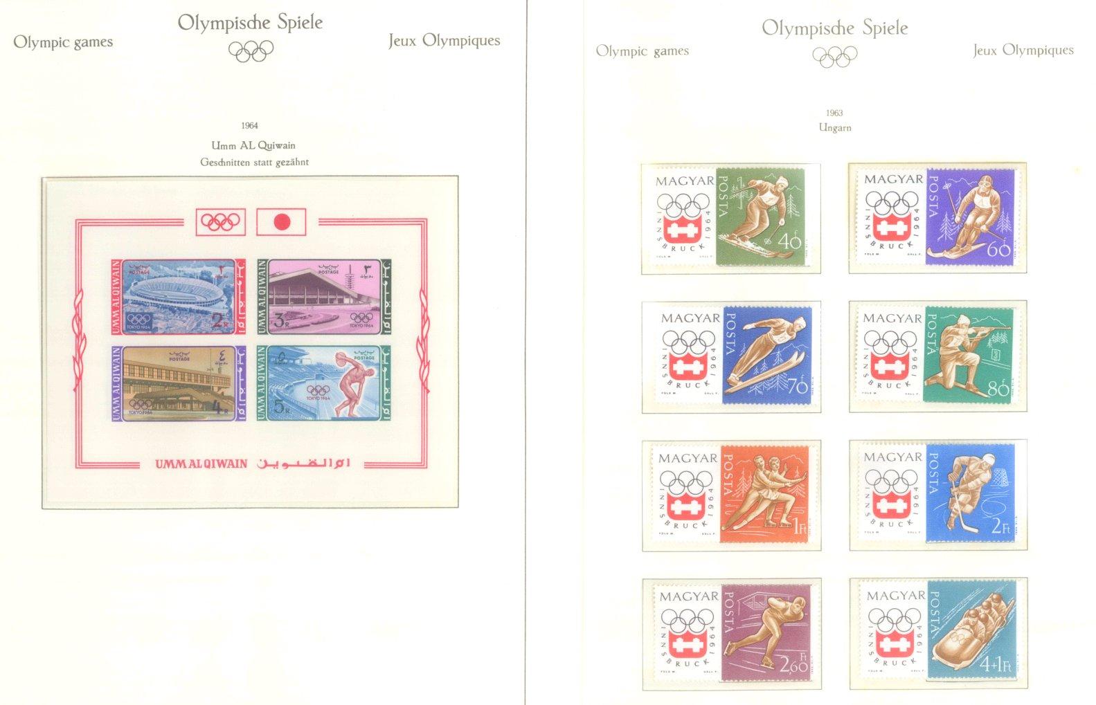 OLYMPISCHE SPIELE 1964 TOKIO, postfrische Sammlung Teil 2-48