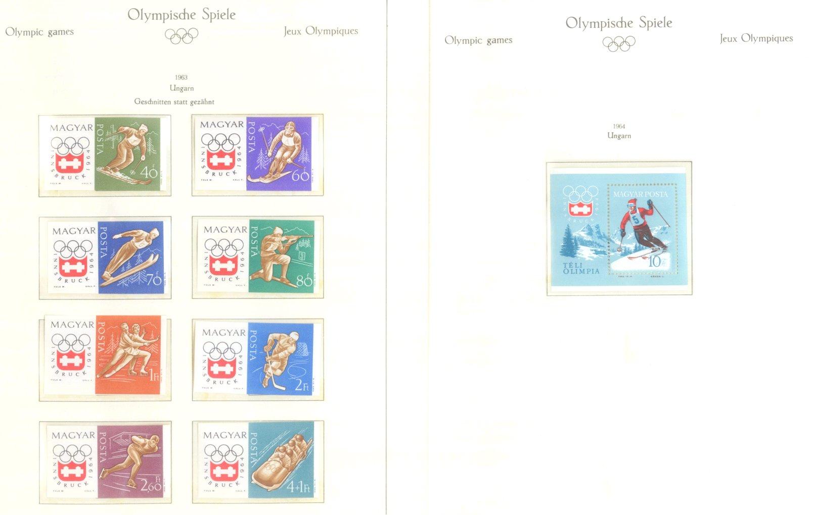 OLYMPISCHE SPIELE 1964 TOKIO, postfrische Sammlung Teil 2-49