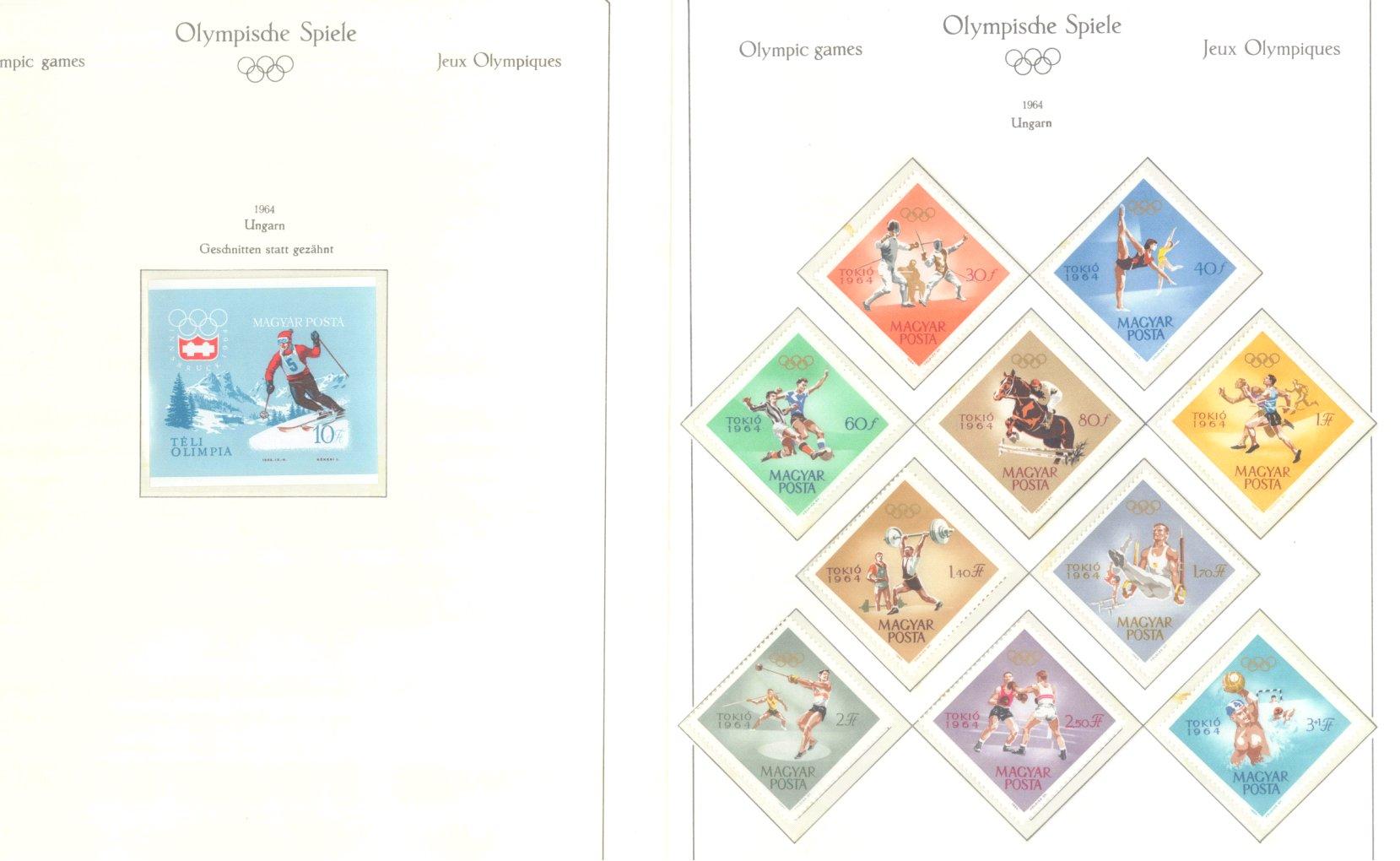 OLYMPISCHE SPIELE 1964 TOKIO, postfrische Sammlung Teil 2-50