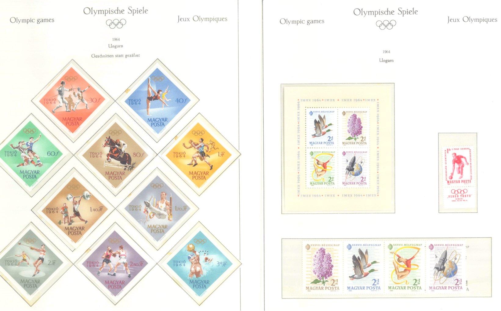 OLYMPISCHE SPIELE 1964 TOKIO, postfrische Sammlung Teil 2-51