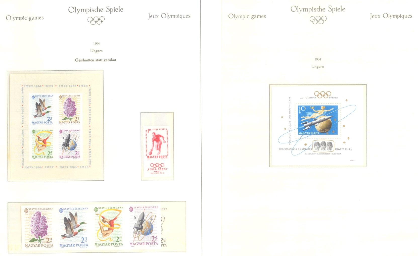 OLYMPISCHE SPIELE 1964 TOKIO, postfrische Sammlung Teil 2-52