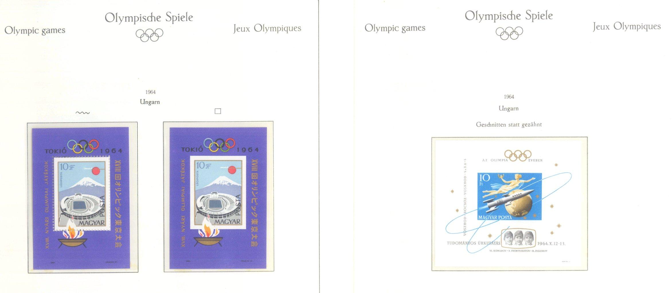 OLYMPISCHE SPIELE 1964 TOKIO, postfrische Sammlung Teil 2-53