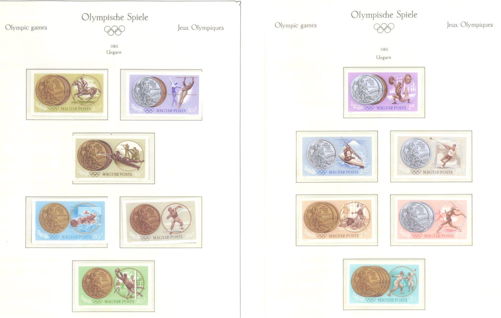 OLYMPISCHE SPIELE 1964 TOKIO, postfrische Sammlung Teil 2-55