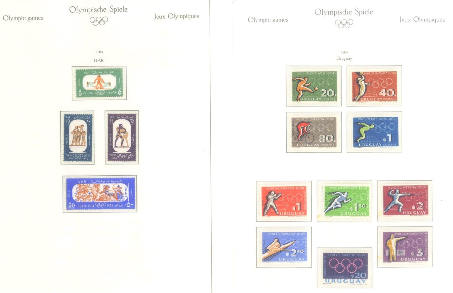 OLYMPISCHE SPIELE 1964 TOKIO, postfrische Sammlung Teil 2-56