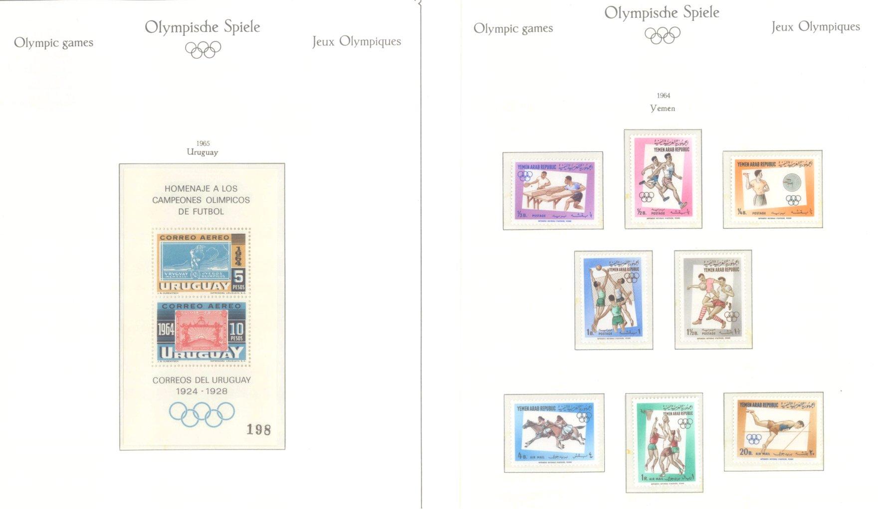 OLYMPISCHE SPIELE 1964 TOKIO, postfrische Sammlung Teil 2-57