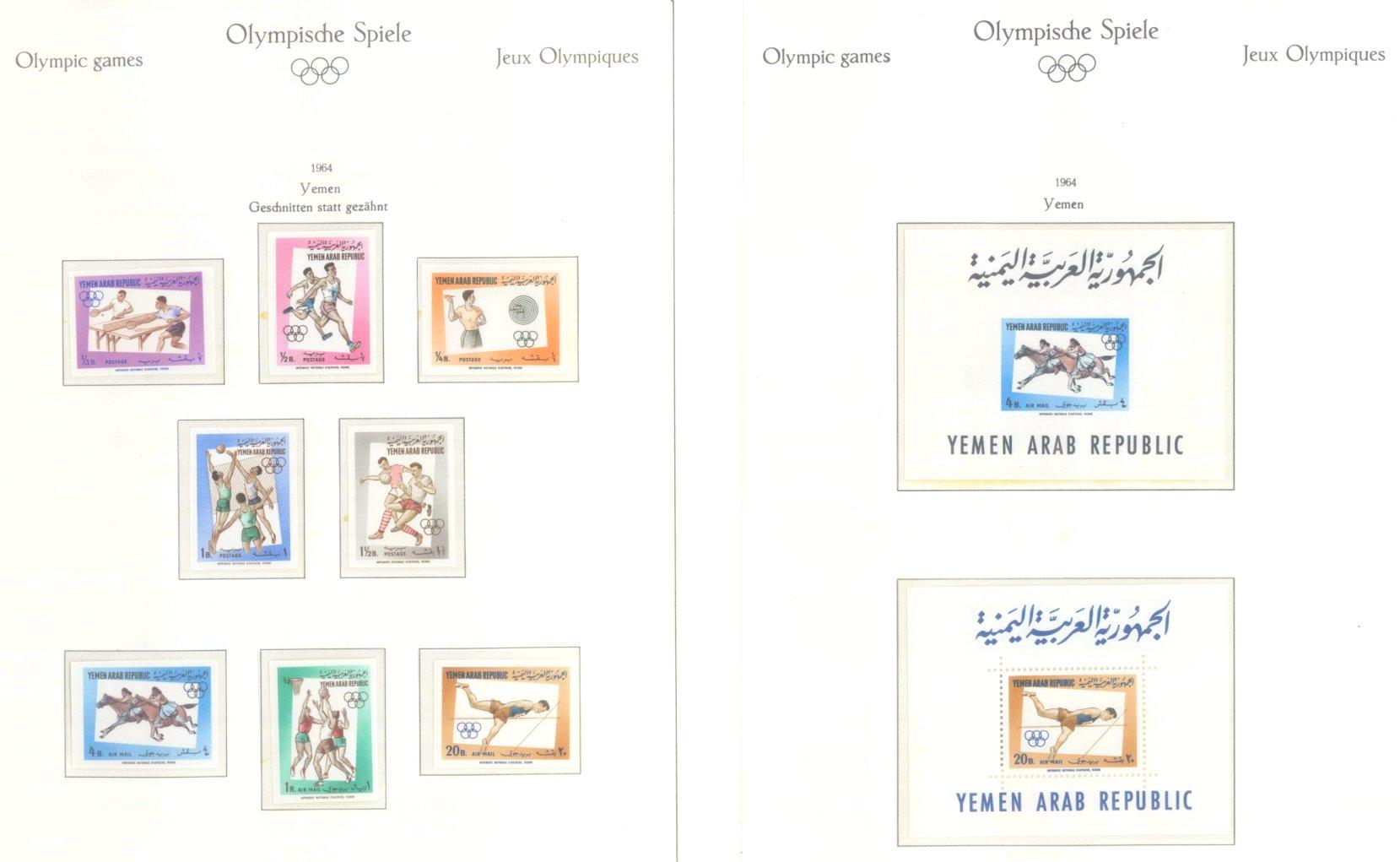 OLYMPISCHE SPIELE 1964 TOKIO, postfrische Sammlung Teil 2-58