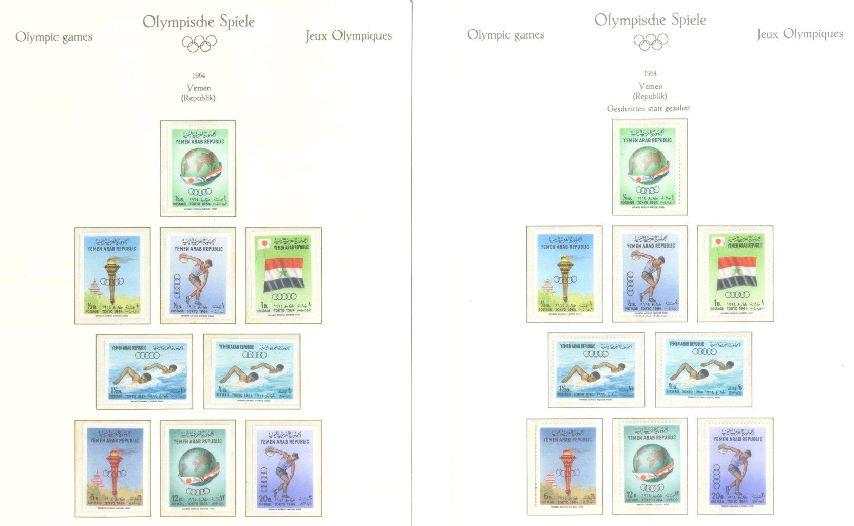 OLYMPISCHE SPIELE 1964 TOKIO, postfrische Sammlung Teil 2-59
