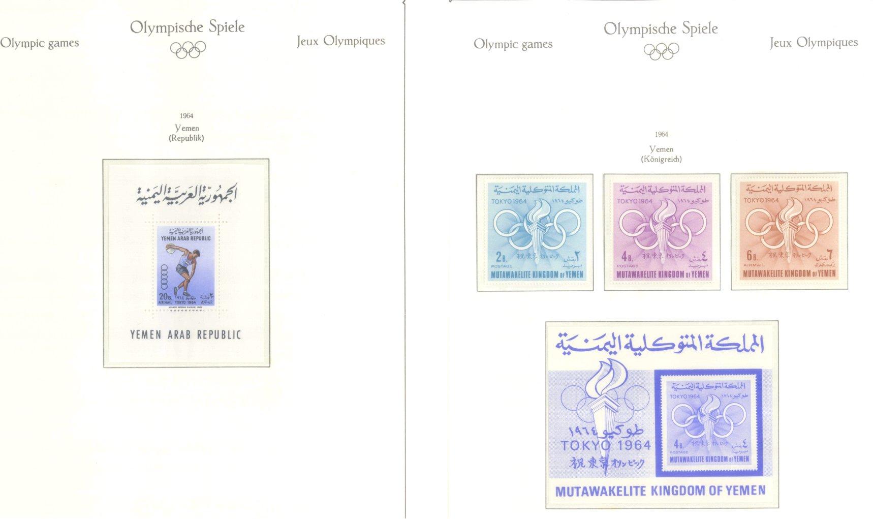 OLYMPISCHE SPIELE 1964 TOKIO, postfrische Sammlung Teil 2-60
