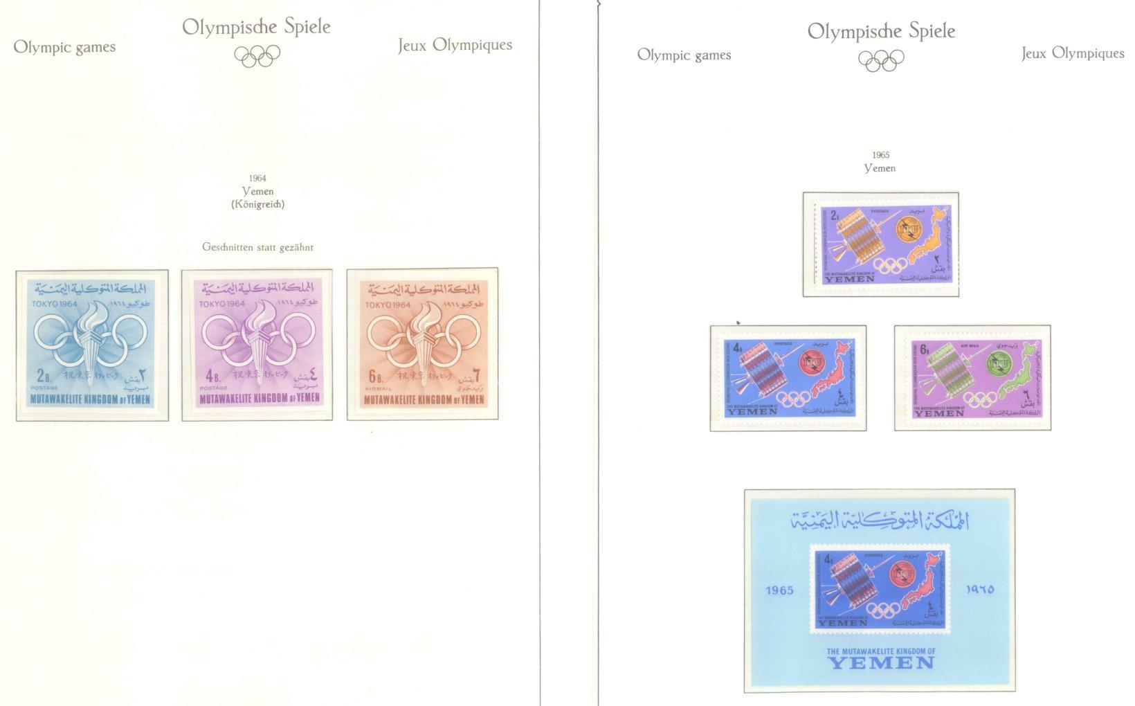 OLYMPISCHE SPIELE 1964 TOKIO, postfrische Sammlung Teil 2-61